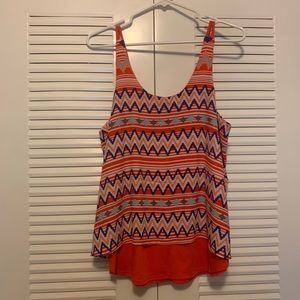 Orange Geometric Top